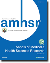 Annals of Medical and Health Sciences Research