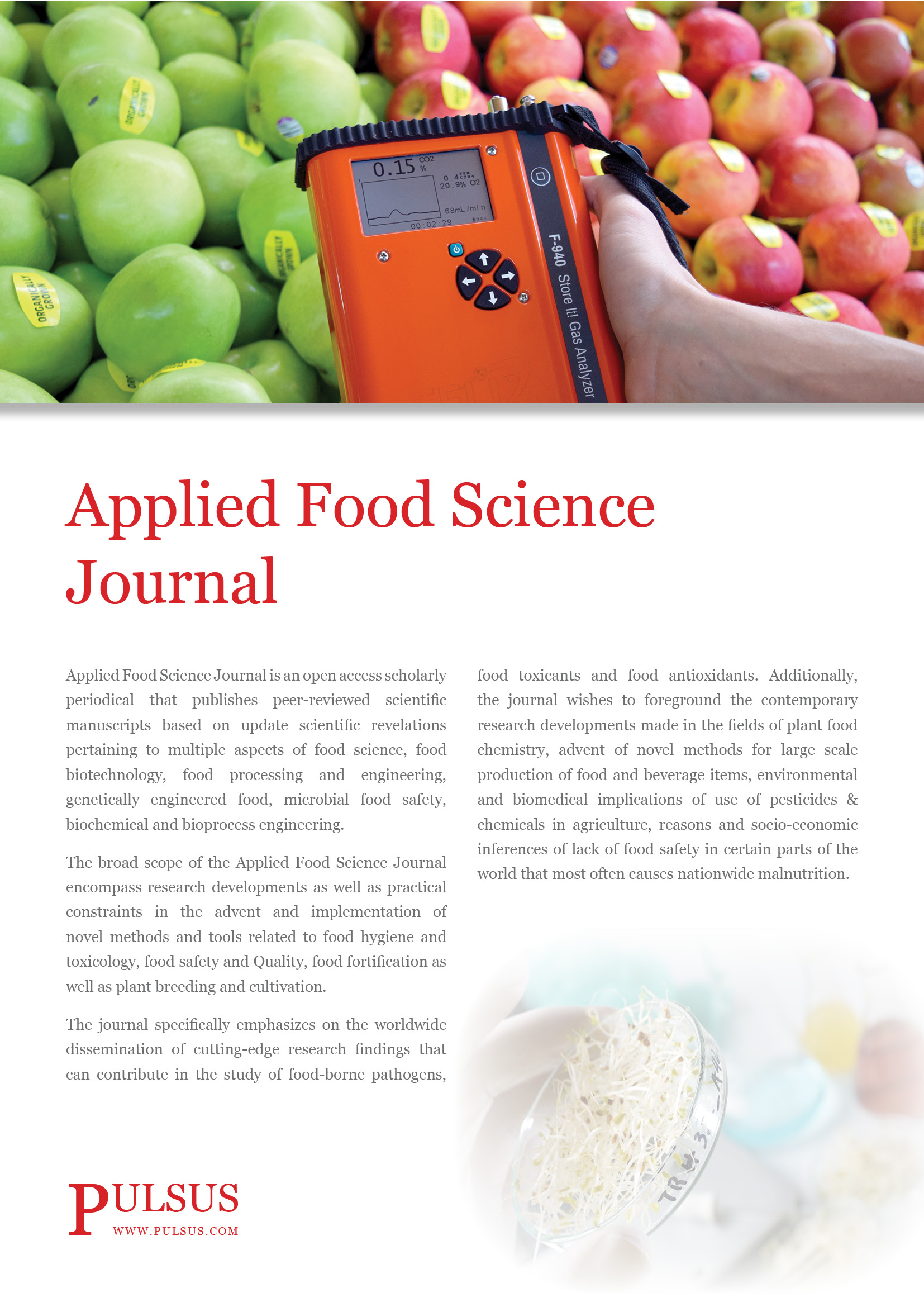 Applied Food Science Journal