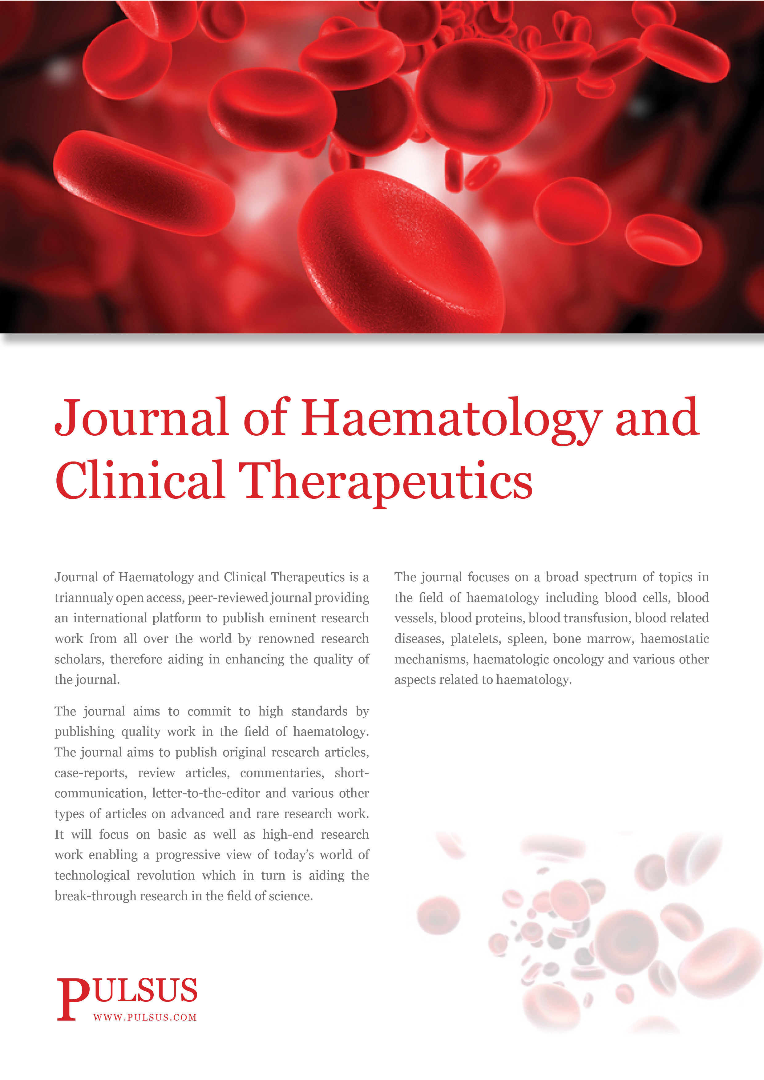 Journal of Hematology and Clinical Therapeutics
