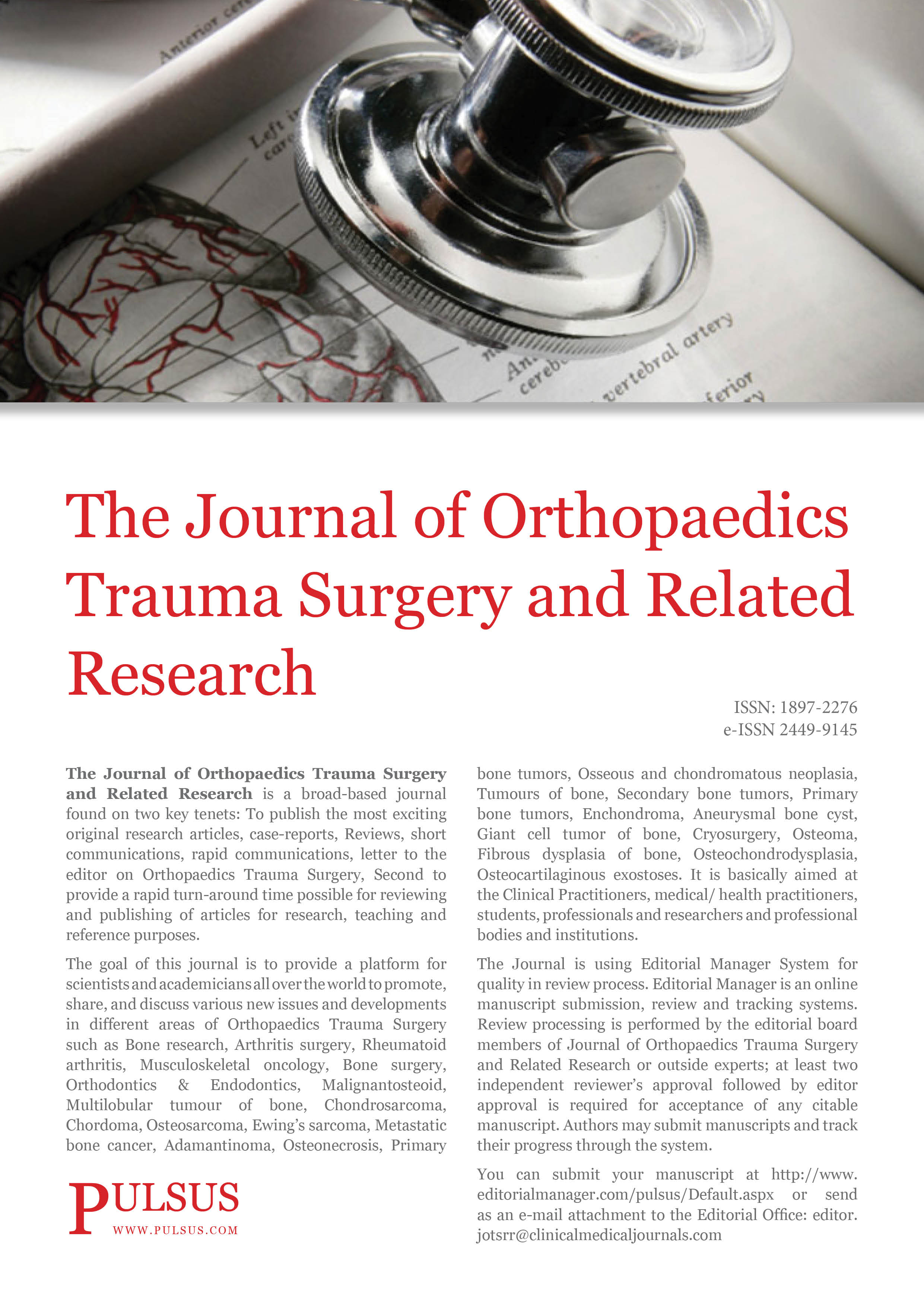 Journal of Orthopaedics Trauma Surgery and Related Research