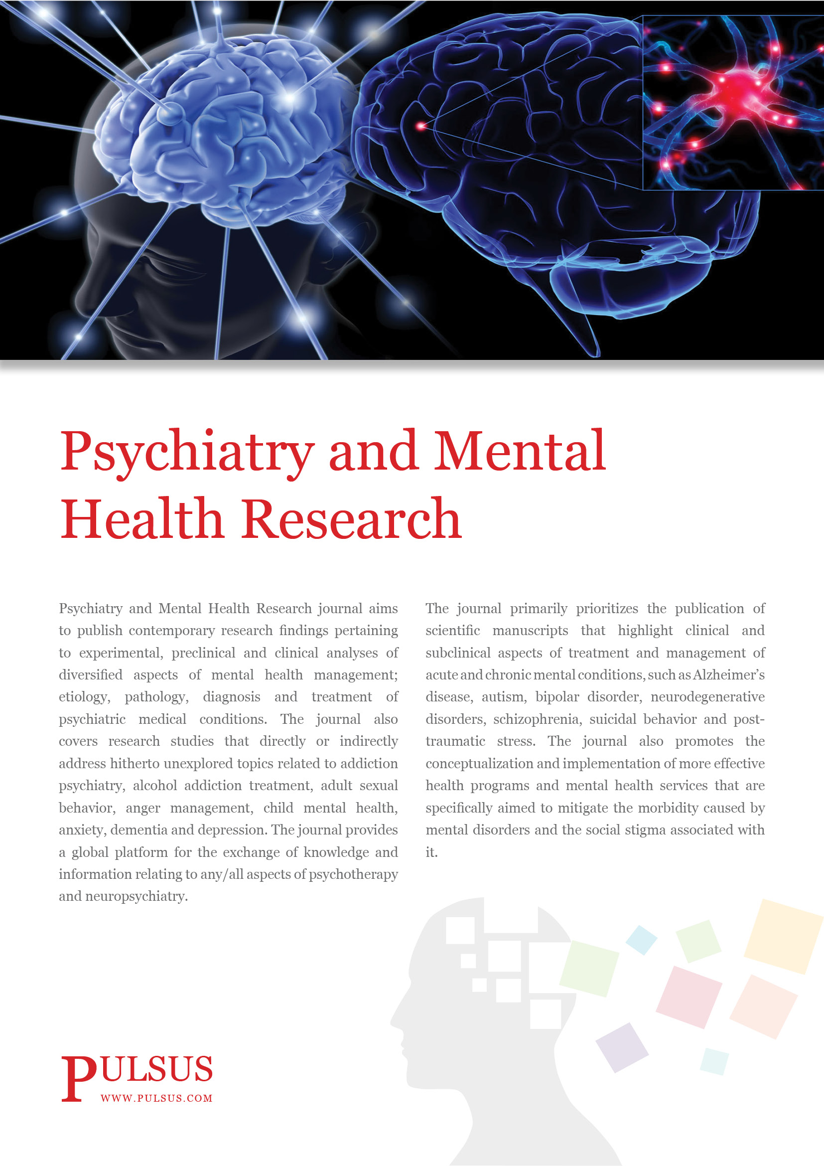 psychiatry research paper Child and adolescent psychiatry and mental health is affiliated with the international association for child and adolescent psychiatry and allied professions (iacapap) capmh is a high-visibility venue for the rapid exchange of interdisciplinary research into the diagnosis, prognosis and treatment of mental health conditions in children and adolescents worldwide.